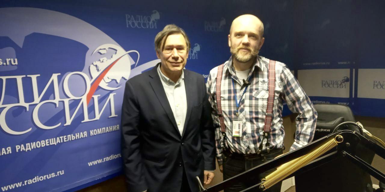 """Николай Дронин и Дмитрий Конаныхин в студии """"Радио России"""""""