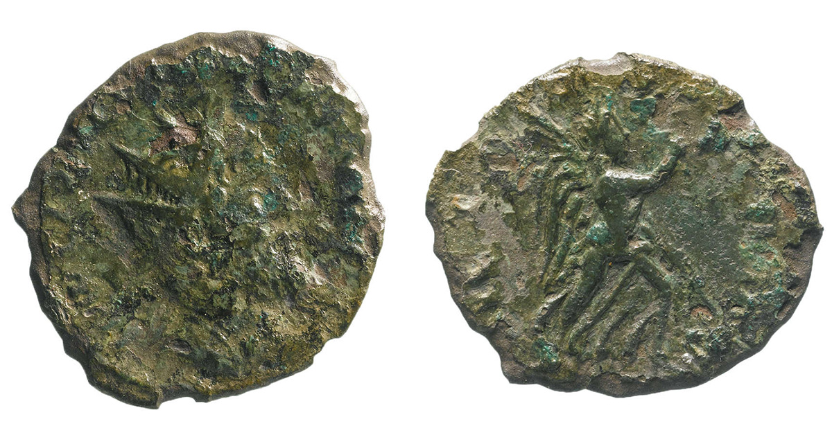 Монета Ульпия Корнелия Лелиана из Кембриджшира, 269 год. Фото: HIGHWAYS ENGLAND