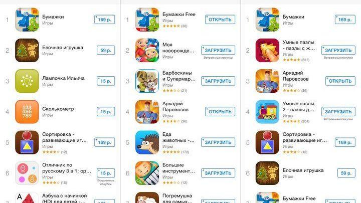 """""""Бумажки"""" возглавили топы развивающих игр в Appstore!"""