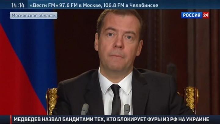 Медведев: остановившие фуры на границе - бандиты и сумасшедшие