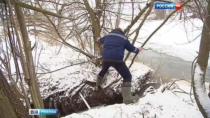 Звенигородцы взволнованы сливом канализации в Москву-реку