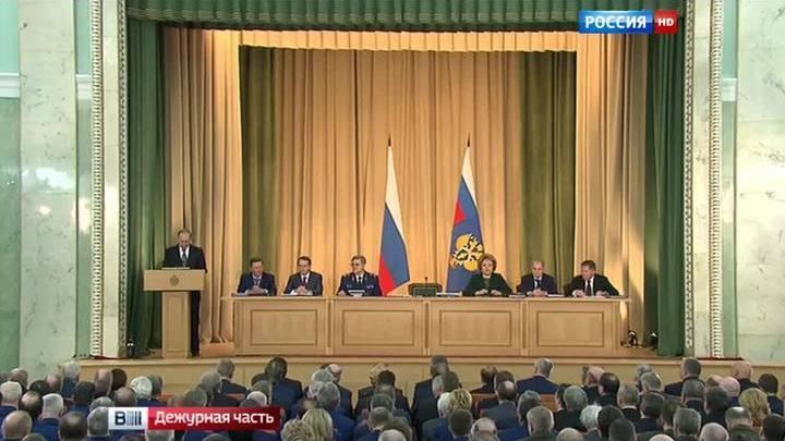 Владимир Путин принял участие в заседании коллегии Генпрокуратуры