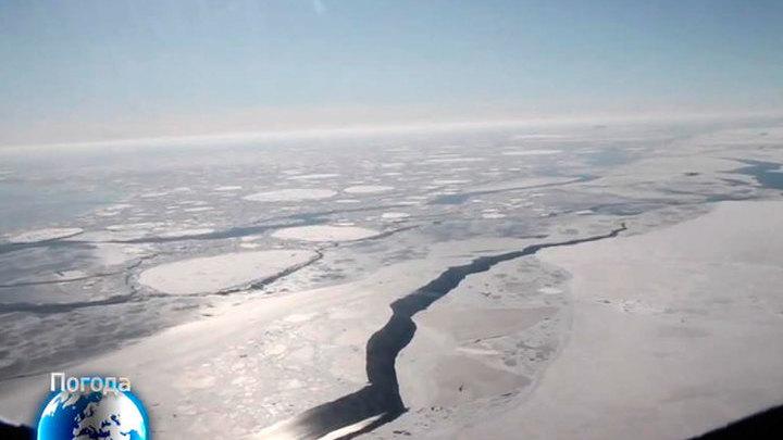 Айсберг размером с Манхэттен скоро отколется от Антарктиды