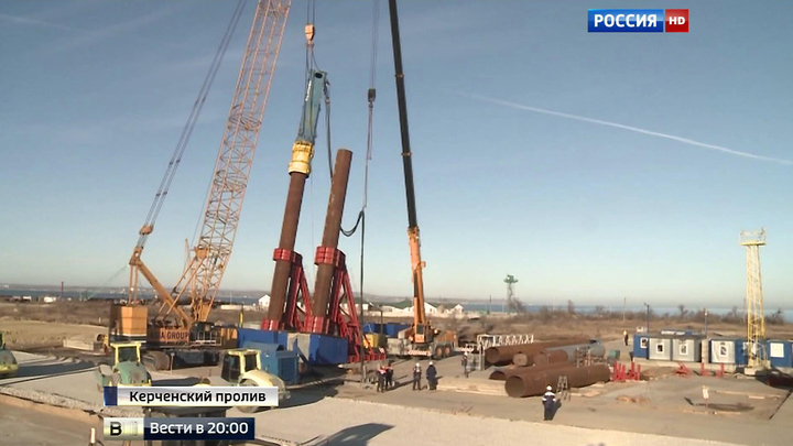 Уникальная стройка на Керченском переходе: самый длинный мост в России
