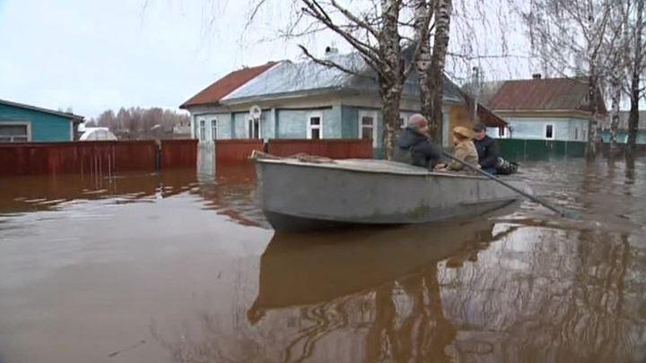 Паводок на северо-западе России