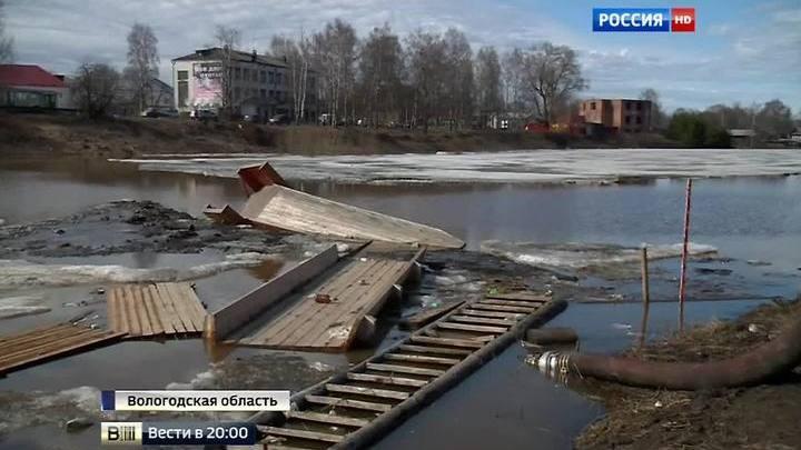 Большая вода идет из Вологодской области в Архангельскую