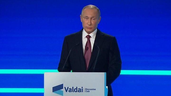Выступление президента России В.В.Путина на Валдайском форуме. Полная версия