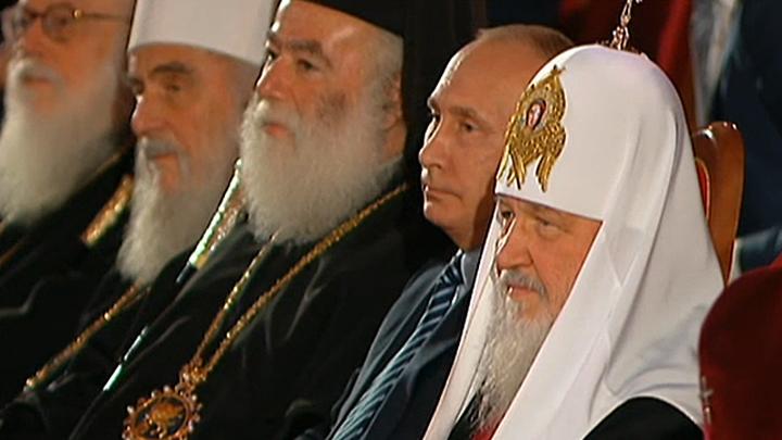 Владимир Путин посетил Большой праздничный концерт к 70-летию патриарха Кирилла