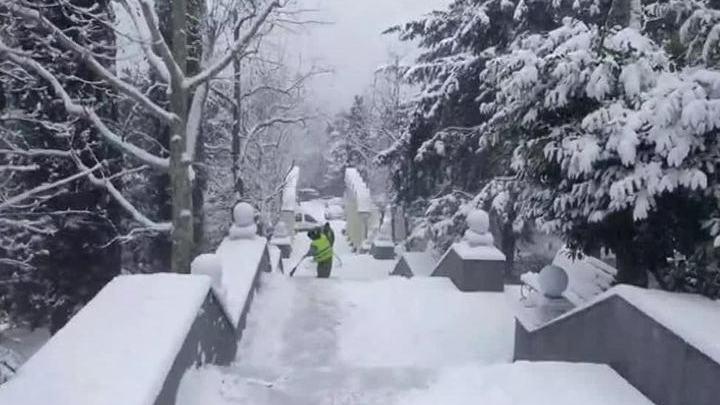 Крым впервые за пять лет накрыли сильнейшие снегопады