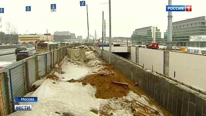 Конструкции тоннеля на Калужском шоссе обрушились под жидким бетоном