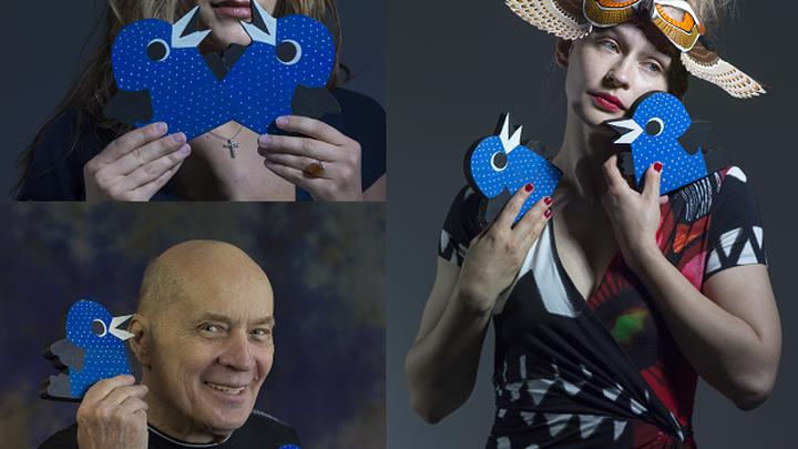 """В Театре Наций представили благотворительный арт-проект """"Люди и птицы"""""""