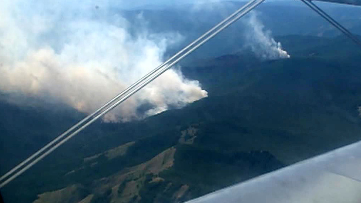 Республику Тыва охватили сильные лесные пожары