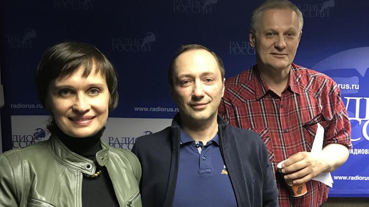 Ведущая Алла Волохина, независимый риелтор Артур Геворкян и журналист Константин Корольков.
