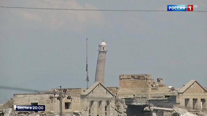 Взрыв в Мосуле: мечеть Ан Нури, где ИГИЛ провозгласило свой халифат, уничтожена