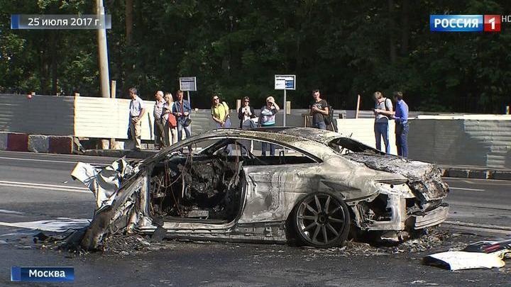 Полиция все еще ищет водителя, устроившего аварию на Волоколамском шоссе