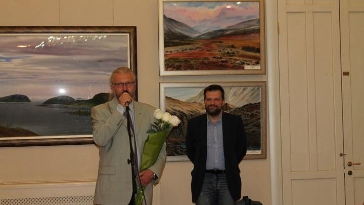 Самые большие, по мнению автора, акварели представлены в Санкт-Петербурге