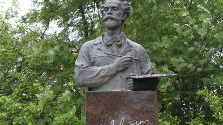 Памятник российскому художнику Исааку Левитану в городе Плёсе Ивановской области.