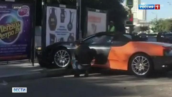 Водителю, разбившему каршеринговый Ferrari в Москве, повезло дважды