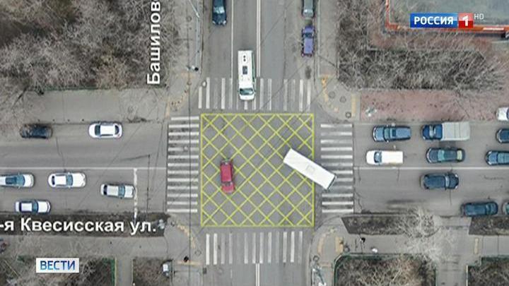 """Эксперимент с """"вафельной"""" разметкой на столичных улицах признан удачным"""