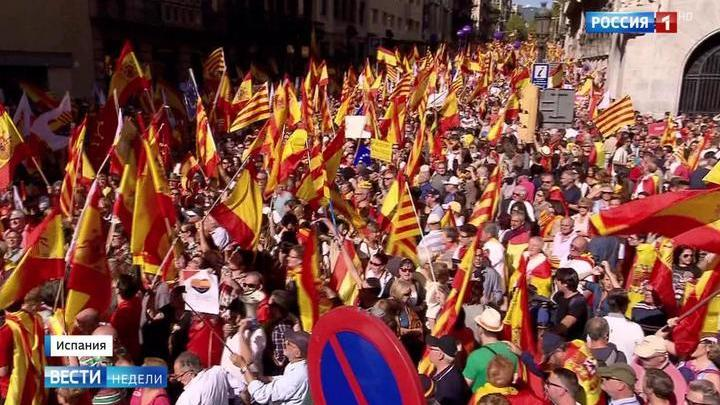Сторонники и противники независимости Каталонии похожи на два моря