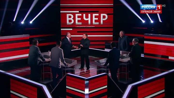 Владимир Жириновский устроил скандал на шоу Соловьева