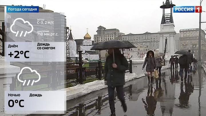 В столице объявлен желтый уровень погодной опасности