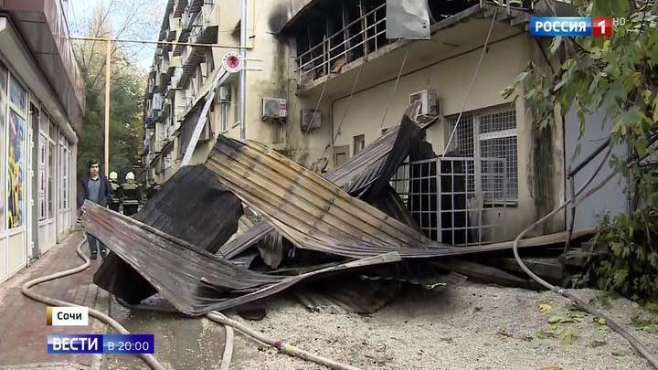 Краснодарский губернатор назвал пожар в сочинском общежитии возмутительным