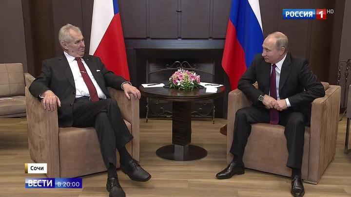 Поговорили по-русски: президент Чехии Земан и Путин строят отношения без санкций