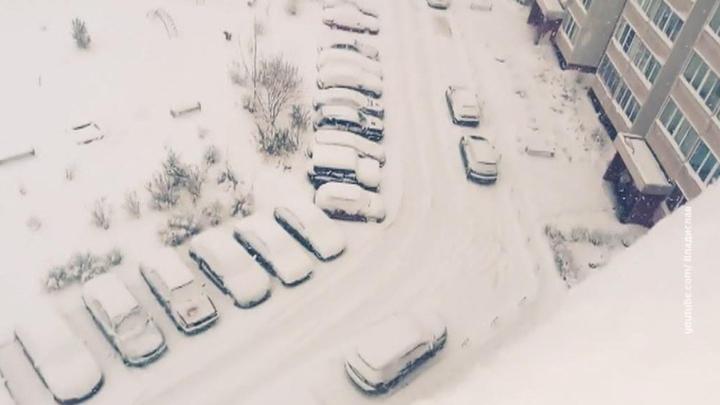 Мокрый снег отрубил электричество в Центральной России