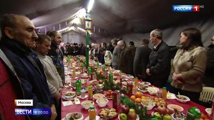 Патриарх Кирилл в Рождество рассказал бездомным о двух путях