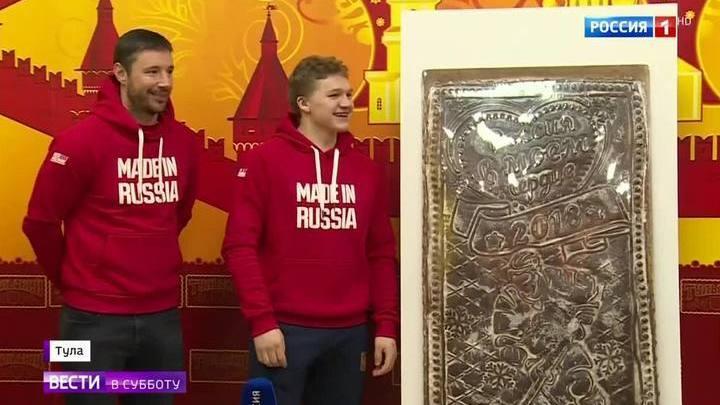 """Россия в моем сердце"": олимпийцев поддержали пряниками"