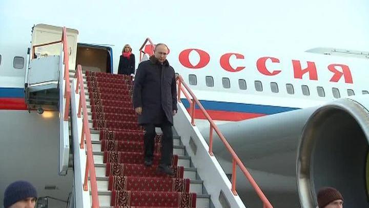 Путин прибыл в Красноярск