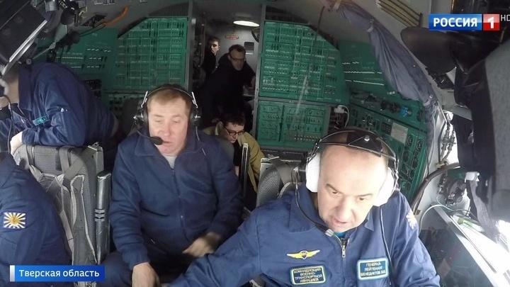 В Тверской области пилоты самолетов-гигантов отрабатывают посадку на снег и лед