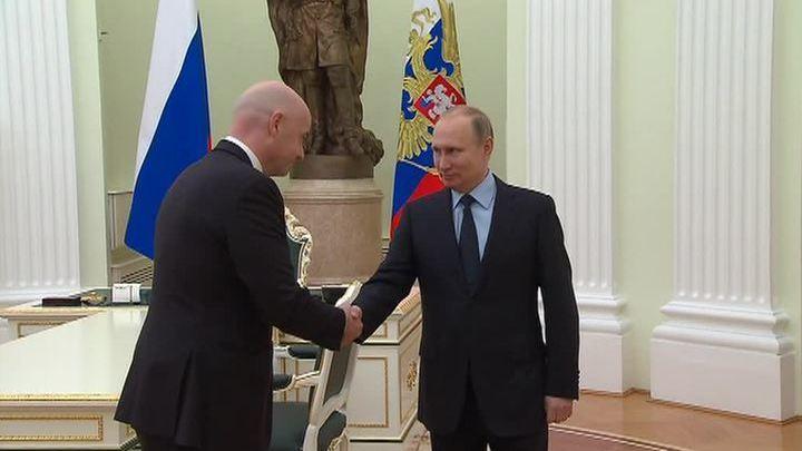 Владимир Путин встретился с Джанни Инфантино