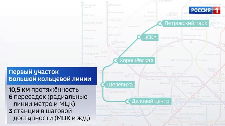 В Москве пустили движение по первому участку Большого кольца подземки