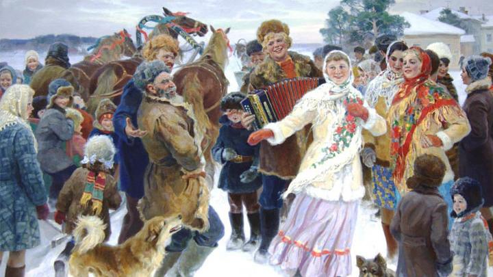 """Картина  """"Праздник в Сосновке"""" О. Бороздина"""