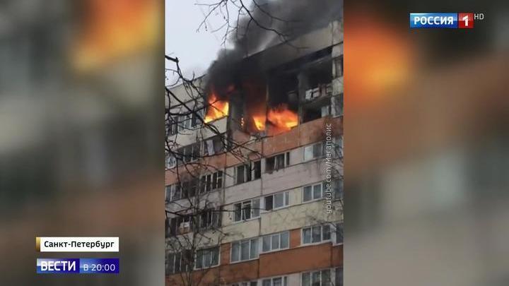 Взрыв газа в Петербурге: пострадали пять человек, один госпитализирован