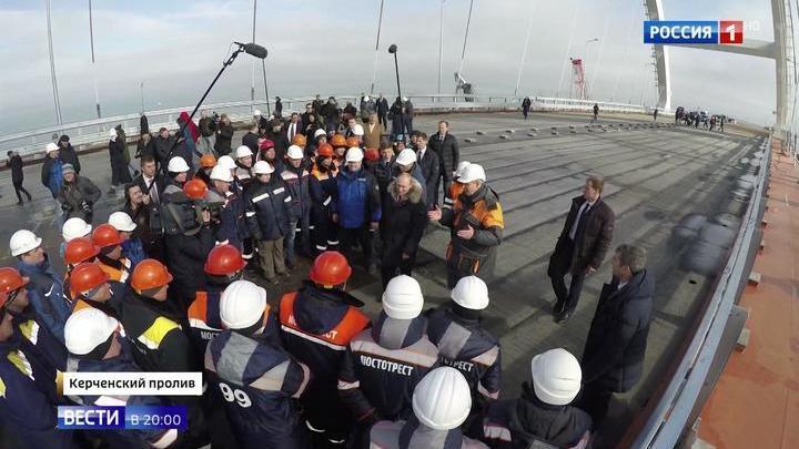 Путину показали самый длинный мост в Европе