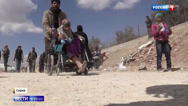 Сирийцы покидают Восточную Гуту, несмотря на атаки боевиков