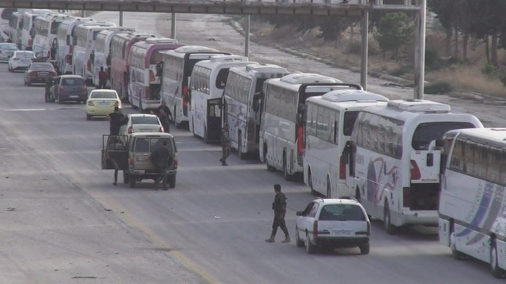 Более 1,8 тыс. боевиков и членов их семей 22 марта вышли из Восточной Гуты