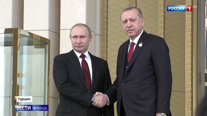 Историческое событие: Путин и Эрдоган дали старт строительству АЭС