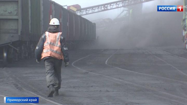 Черное море в Находке: местные жители задыхаются от угольной пыли