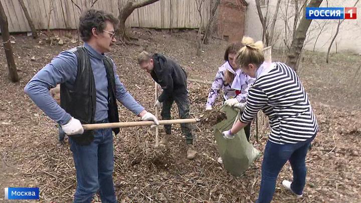 Исторический субботник: москвичи навели порядок в усадьбах и парках