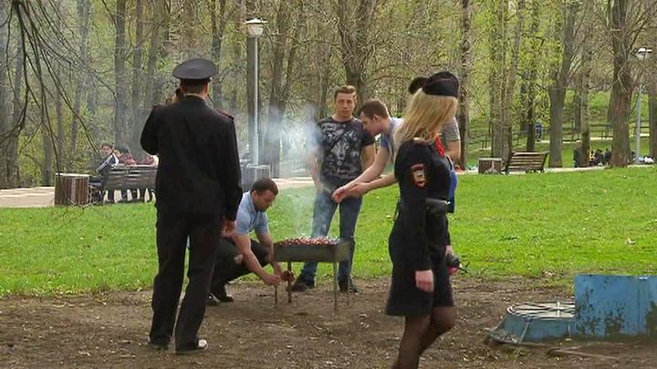 Порно видео пьяные на пикнике один мужик