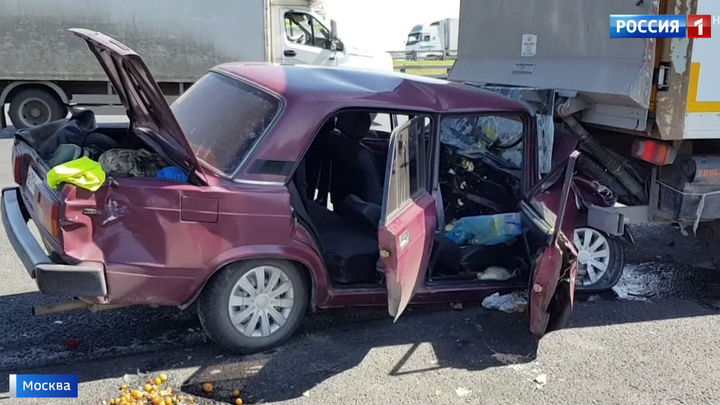 40ffff7de891 Вести.Ru  Массовое ДТП на МКАД  столкнулись пять машин