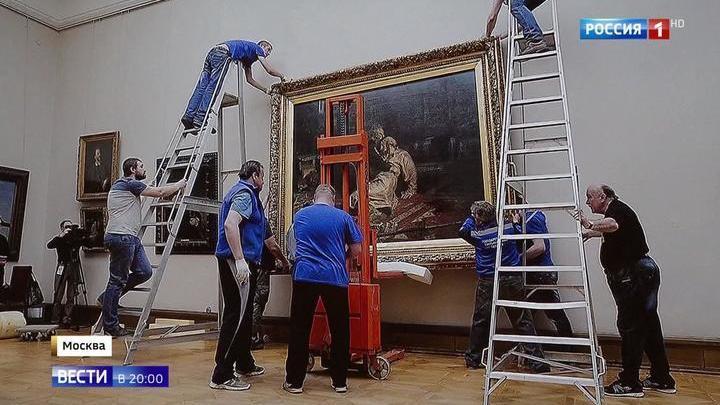 """Картина Репина: """"Ивана Грозного и сына его Ивана"""" возьмут в защитный короб"""