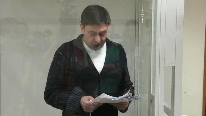 В суде Херсона Вышинский обратился к Путину и Порошенко