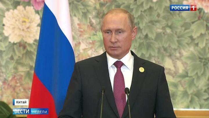 Путин рассказал о разговоре с Порошенко и встрече с Трампом