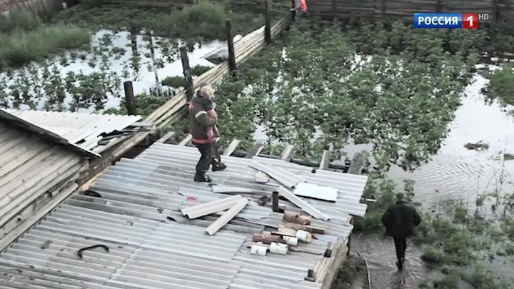 В столице Забайкалья из-за сильного паводка идет эвакуация жителей