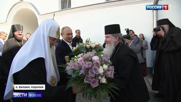 Архипелаг православной веры: Путин посетил Валаам